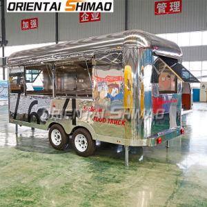 Street Mobile réfrigérés Snack caravane Airstream Trailer de fast-food