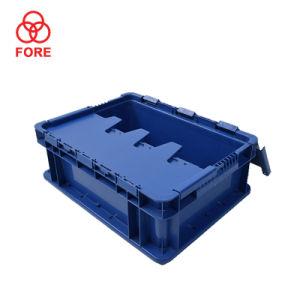 Cajas de plástico resistente de almacén Contenedor con tapa