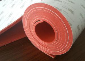 Het Blad van het Rubber van de Spons van het silicone met de Kleefstof van de Lijm van 3m