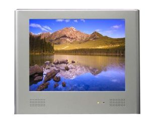 전시를 광고하는 10inch LCD