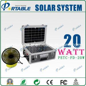 Casa Solar portátil 20W Sistema de alimentación con el AC Nterface (PETC-FD-20W)