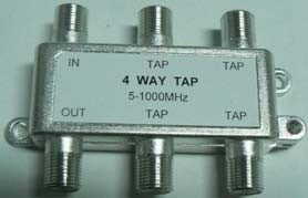 4-Way Tap 5-1000MHz CATV Splitter