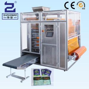 La sal pequeña bolsita lateral cuatro máquinas de embalaje de varias líneas de sellado