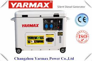 Fabricación de Yarmax/lista de precios refrescada aire del generador diesel silencioso portable 7kVA de la fuente 192fg