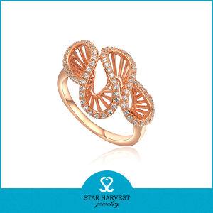 Juwelen van de Ring van het Plateren van CZ van de AMERIKAANSE CLUB VAN AUTOMOBILISTEN de Gouden (sh-R0003)