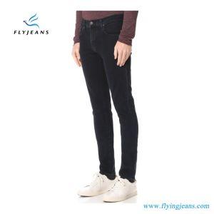 Il denim di stirata del nero di modo scarno dimagrisce i jeans adatti degli uomini (P.E. 4112 dei pantaloni)