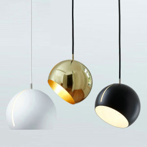 Oro/Black Metal Moderno colgante lámpara colgante decorativo para Comedor Cocina Restaurante