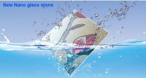 穴のなしの全面的な人工的な大理石の石造りの平板のNanoガラス石