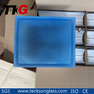 Glass blu Block con Cartons Packing