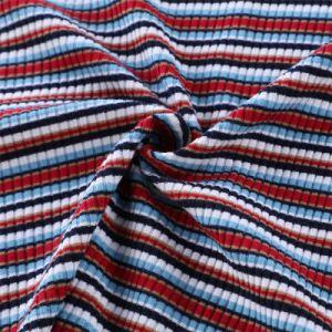 Текстильный Yigao высокое качество Yarn-Dyed полиэстер лайкра ребра трикотажные ткани Tr ребра вязание ткань