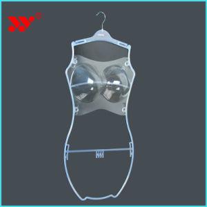 Comercio al por mayor Sexy Cuerpo de plástico transparente personalizado colgador de trajes de baño