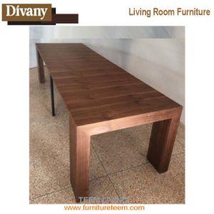 Caliente la venta de madera moderna mesa de comedor extensible con sillas