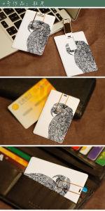 カスタムロゴのクレジットカードのメモリディスクUSBのフラッシュ棒(EC005)