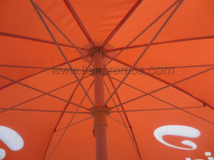 Mtn Airtelの電気通信バンクの屋外の日曜日の証拠のビーチパラソル