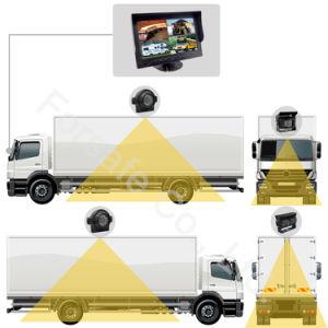 9 pulgadas de pantalla cuádruple autobús/coche/camión pesado de la cámara retrovisor con cámara Ahd