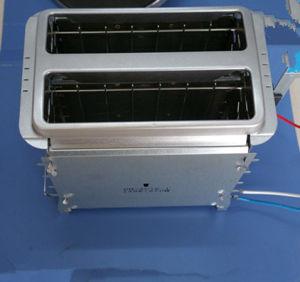 2 rebanadas tostador de pan Nuevo Diseño de resistencia con el panel de acero inoxidable