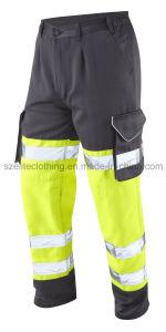 ReflectiveこんにちはVis Polycotton Trousers (ELTHVJ-142)の反射Cargo Pants Flame Resistan Pants