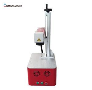 20W 30W Mini Desktop máquina de marcação a laser de fibra de aço inoxidável de alumínio