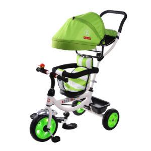 Triciclo de giro do bebê do triciclo de crianças da roda do assento três