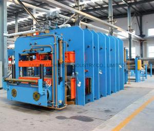 직물 증강 가황하는 고무 컨베이어 벨트 격판덮개 압박 기계 치료