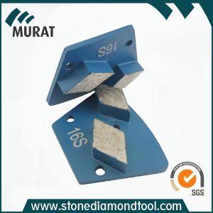 Disco abrasivo del diamante schiavo del trapezio del metallo per molatura concreta/di pietra