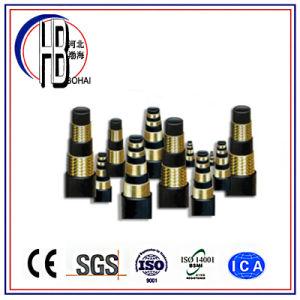 Hergestellt Art-im Hochdruckstahldraht-umsponnenen hydraulischen Gummischlauch China-Techmalflex