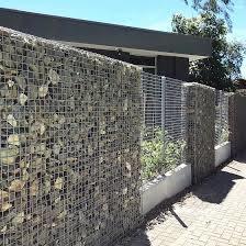 Malha de arame soldado decorativas Gabião cerca para paredes de retenção