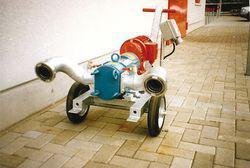 Los carros de bombeo de agua de mar móvil
