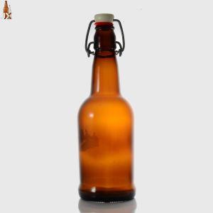 bernsteinfarbige Glasflasche 500ml für Getränkenahrungsmittelbierflasche-Glasware-Alkohol-Behälter-Getränk-Flasche
