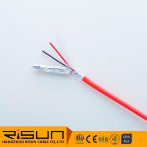 4 núcleos condutor sólido blindado, o cabo de alarme
