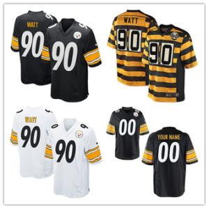 남자 여자 젊음 Steelers Jerseys 90의 T.J. 와트 축구 Jerseys