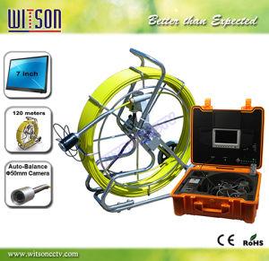 tuyau de l 39 endoscope witson inspection camera avec tige de pouss e de 120m de c ble en fibre de. Black Bedroom Furniture Sets. Home Design Ideas