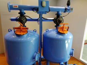 Arena de Cuarzo Double-Chamber automática de equipos de filtración de los medios de comunicación de dos cilindros/ /filtro de riego de 24 pulg.
