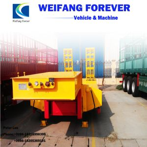Weifang永久に2車軸か半3車軸または4つの車軸低ベッドのトレーラー