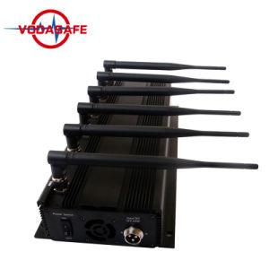 De Stoorzender van de Telefoon van de Cel van Smartphone van de Leverancier van het Nieuwe Product van China, de Draadloze Mobiele Stoorzender van 6 Banden, Blocker van de Stoorzender van het Signaal van 2g/3G/4G Cellphone +GPS+Lojack