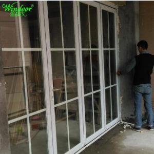 Portelli di piegatura di alluminio del patio con la rete di zanzara dello schermo