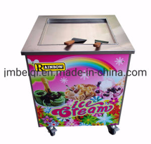 2020 Venta caliente freír los rodillos de acero inoxidable comercial helado frito tailandés de la máquina de helados