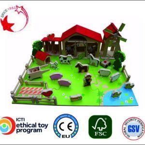 Les jouets en bois de bricolage jouer Farm