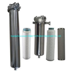 SS316 SS304 Aço inoxidável Cartucho único do Alojamento do Filtro de Água 10 20 30 40 polegada