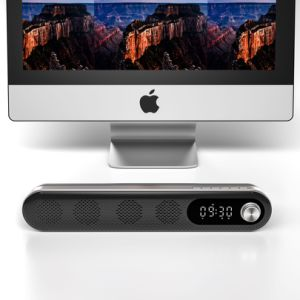 Altifalante de Alarme do Relógio do alto-falante Bluetooth com bateria recarregável