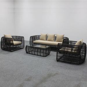 L'extérieur des meubles en rotin ensemble canapé en osier