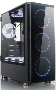Bester Spiel PC Kasten des Verkaufs-ATX/Computer-Kasten mit RGB-Ventilator, geöffnetes Glasfenster