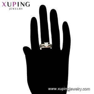 Os cristais de jóias de luxo Suite Ring Partido com Novo Design de jóias de cor prata Encanto Redonda Anel de casamento