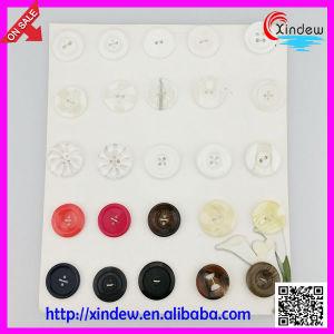 Botões de costura personalizada de resina