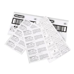 Rótulos adesivos permanentes durável impressão rotativa/hot stamping/Parcial etiqueta durável de cola