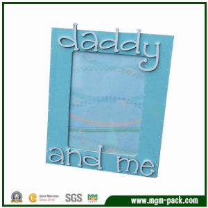 Father의 Gift를 위한 사랑스러운 Blue Rectangle Wooden Picture Frame