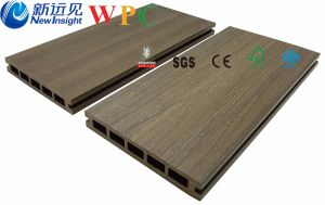 Groeven-rand Afgedekte Co-Uitgedreven WPC Decking