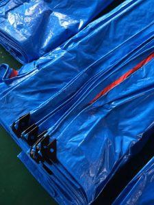 デザイン黒いPEの防水シート、頑丈な防水シート