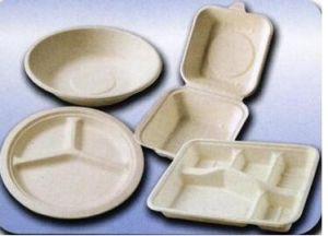 Biodegradierbares Zuckerrohr-Bagasse-Papier-Tafelgeschirr mit Qualität