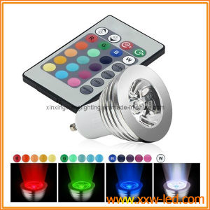 Der RGB-farbenreiches Ändern Fern-LED Punkt-Glühlampe-1*3W